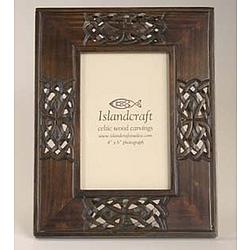 Celtic Carved Wood Photo Frame