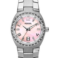 Women's Pink Mother of Pearl Dial Watch