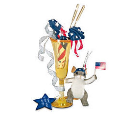 Charming Tails Here's To Red, White and You Mouse Figurine