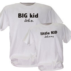 Big Kid or Little Kid Personalized Father or Child T-Shirt