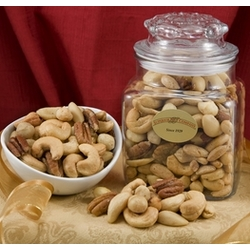 Superior Mixed Nuts in a Decanter
