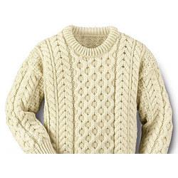 Children's Aran Crew Sweater