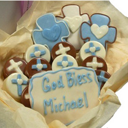 Decorated Baptism Oreo and Sugar Cookie Gift Box