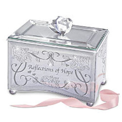 Reflections of Hope Breast Cancer Support Mirrored Music Box