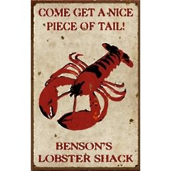 Personalized Vintage Lobster Shack Metal Sign