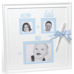 Blue Baby Autograph Wall Frame with Pen