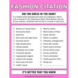 Fashion Citation Nifty Note Pad