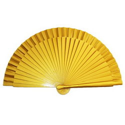 Handpainted Spanish Small Golden Hand Fan