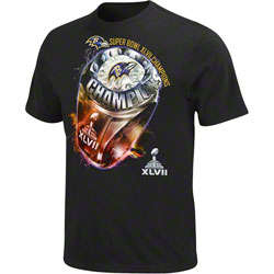 Baltimore Ravens Super Bowl XLVII Champions Victory Bling T-Shirt