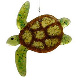 Sea Turtle Glass Art Suncatcher