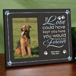Personalized Pet Memorial Printed Frame