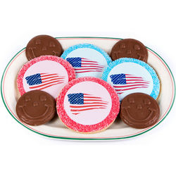 All American Flag Cookies and Chocololate Smileys Cookies