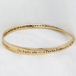 14K Lords Prayer Mobius Bracelet