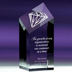 Personalized Diamond Service Award