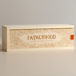 Fatherhood Puts Hair on Your Chest Personalized Wine Box