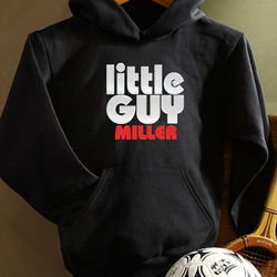 Kid's Personalized Little Guy Black Sweatshirt