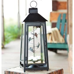 Guardian Angels Stainless Steel Lantern