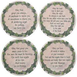 Irish Blessings Sandstone Coasters