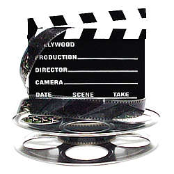 Hollywood Studio Clapboard and Reel Centerpiece