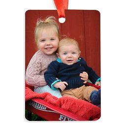 2x3 Vertical Rectangle Custom Photo Ornament