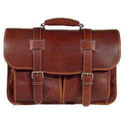 Leather Adventure Flap Over Briefcase