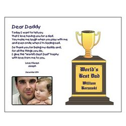 Personalized 'Dear Daddy' Poetry