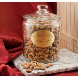 Jumbo California Almonds in a Glass Jar