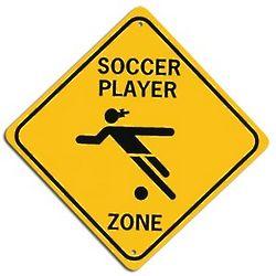 Soccer Crossing Street Sign