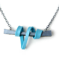 Draping Polymer Clay Ribbon Necklace