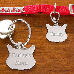 Personalized Cat Name Tag & Keychain Set