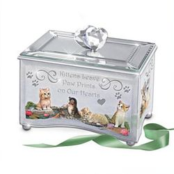 Purr-fect Reflections of Love Kitten Lovers' Music Box
