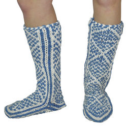 Diamond Pattern Hand Knit Mukluks