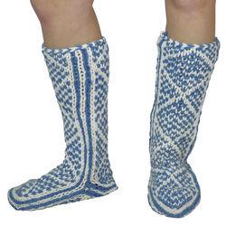 Diamond Pattern Hand Knit Mukluks