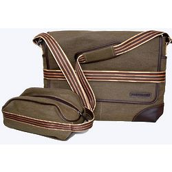 Messenger & Toiletry Bag Set