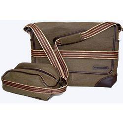 Messenger & Toiletry Bag Set
