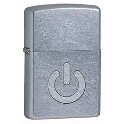 Power Button Street Chrome Zippo Lighter