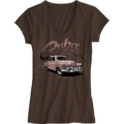 Vintage Ride Lady's V-Neck T-Shirt
