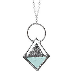 Stained Glass Triangle Pendant