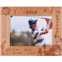 Wooden Personalized Golf Frame