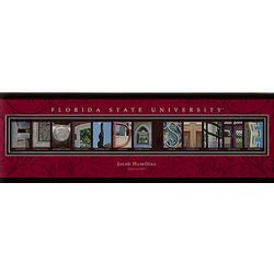 Personalized Florida State Campus Photo Letter 12x36 Canvas