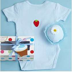 Cupcake Shaped Baby Bodysuit
