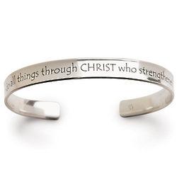 Philippians 4:13 14K Gold Bracelet