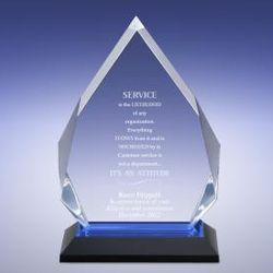 Personalized Blue Diamond Reflection Award