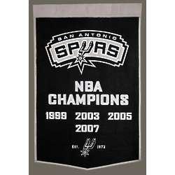 San Antonio Spurs Mid-Size Championship Banner