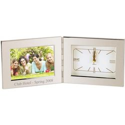 Silver Alarm Clock Personalized Photo Frame
