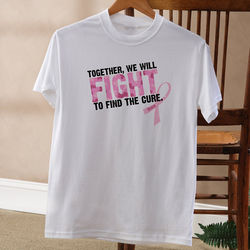 Personalized Fight to Find the Cure Pink Ribbon T-Shirt