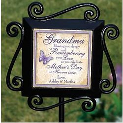 Personalized Women's Garden Remembrance Stake
