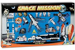 Space Shuttle with Kennedy Space Center Sign Play Set