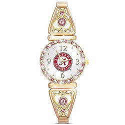 Alabama Crimson Tide Women's Watch with Team-Color Crystal