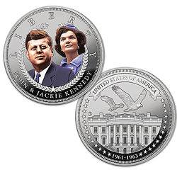 JFK & Jackie Days of Camelot Silver Tribute Coin